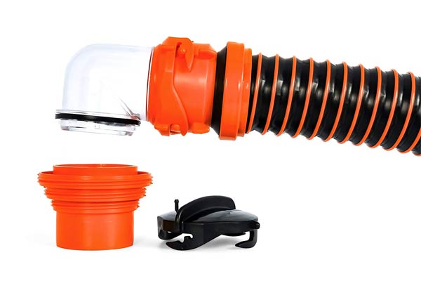 how to keep RV sewer hose from freezing
